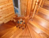 Ясеневая лестница на металлический каркас - фото 2