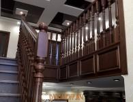 Лестница из массива ясеня на бетонное основание - фото 5
