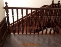 Лестница из массива ясеня на бетонное основание - фото 11