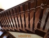 Лестница из массива ясеня на бетонное основание - фото 13