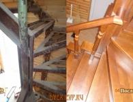 Ясеневая лестница на металлический каркас - фото 5
