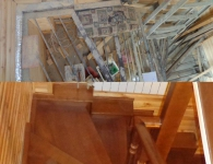 Ясеневая лестница на металлический каркас - фото 8