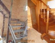 Ясеневая лестница на металлический каркас - фото 6