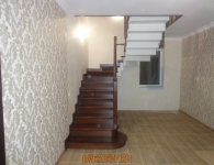Лестница из дуба на металлический каркас - фото 1