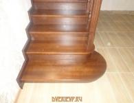 Лестница из дуба на металлический каркас - фото 6