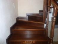 Лестница из дуба на металлический каркас - фото 9