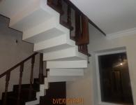 Лестница из дуба на металлический каркас - фото 3