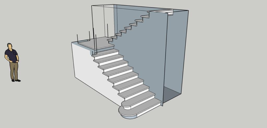 3D проектирование лестницы фото 2