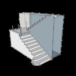Услуга 3D проектирование лестницы